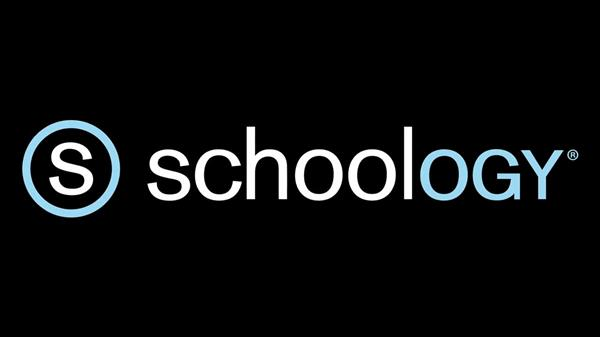 This is an image of the Schoology logo. Click the logo to access a video of how to interact with Schoology.