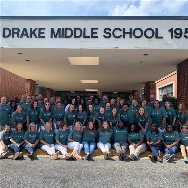 This is a picture of the Drake Middle School faculty.